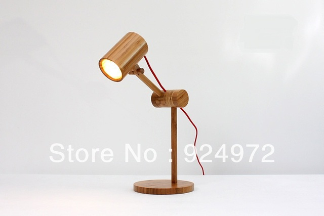 Classic bamboo desk lamp, vintage bamboo table lamp, retro reading lights for beds