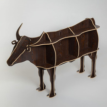 Creative Nordic Decoration European fashion creative crafts wooden Home Decoration Australian cattle cow OX  cute souvenirs gift