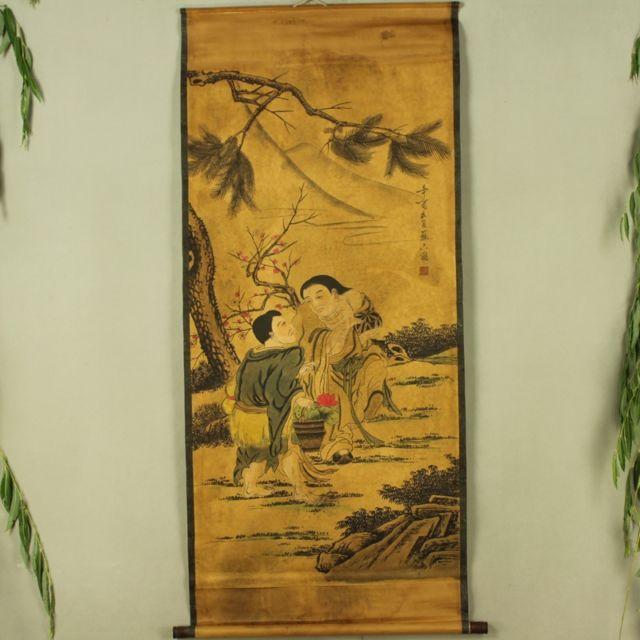 Chine Antique collection Boutique calligraphie et peinture diagramme Erxian