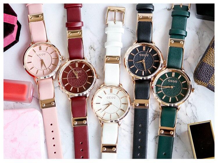 Pulseira de couro relógio relógio casal relógio