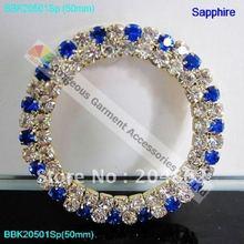 10 шт. 50 мм круглое кольцо с кристаллами AB ярко-синий красный Изумрудный фуксия чередование золотого и серебряного цвета DIY Browbands стразы пряжки со стразами