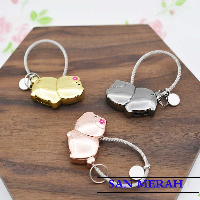 Piggy chaveiro jóias chaveiro bolsas de pinos acessórios Do Carro pingente de chave e Anima cadeia bolsa amantes pequeno presente olá kitty cc