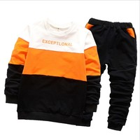 Cinco Bears 2017 Boys And Girls Clothes Set Long Sleeve Sport Suit For Boys Children Clothing