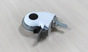 Image 3 - 3 дюйма, Медицинские Ролики/колеса с тормозом, прозрачное беззвучное колесо для медицинского оборудования, винт M12x30, для больничного оборудования