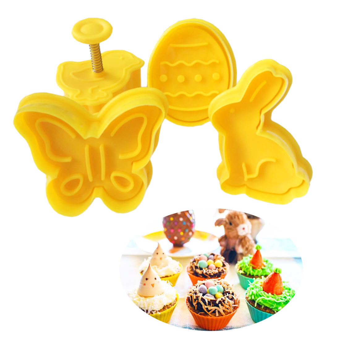 Biscuit Pastry Dinosaur Biscuit Cutter Set of 2 Fondant Cutter