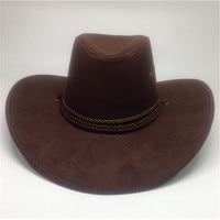 2018 Western Cowboy Hat Hand Made Beach Felt Sunhats Party Cap For Man Woman Cowboy Hat Unisex Hollow Western Hats Gift AD0038