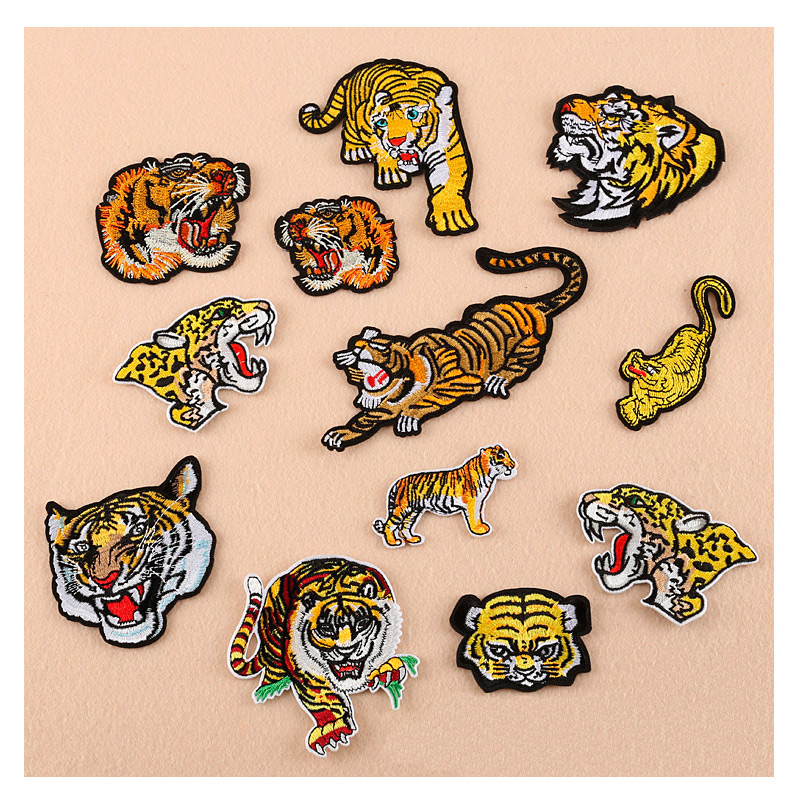 Arts,crafts & Sewing Home & Garden Creative Prajna Animal Patches Embroidered Tiger Iron On Patches Wolf Lion Stickers For Men Clothing Cool Fashion Applique Apparel Supply Shrink-Proof