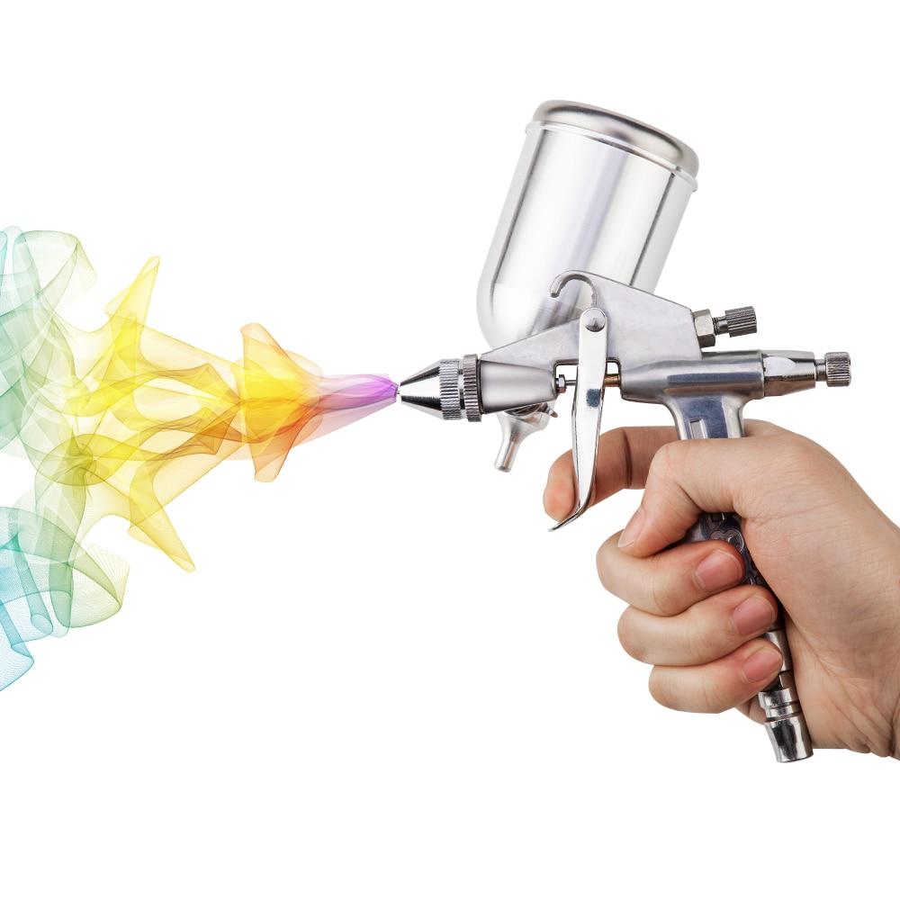 Professional Spray Gun 0.5MM Nozzle Gravity Feed Power Tools Airbrush Spray Gun Mini Air Paint Spray Gun For Painting Car-in Spray Guns from Tools on