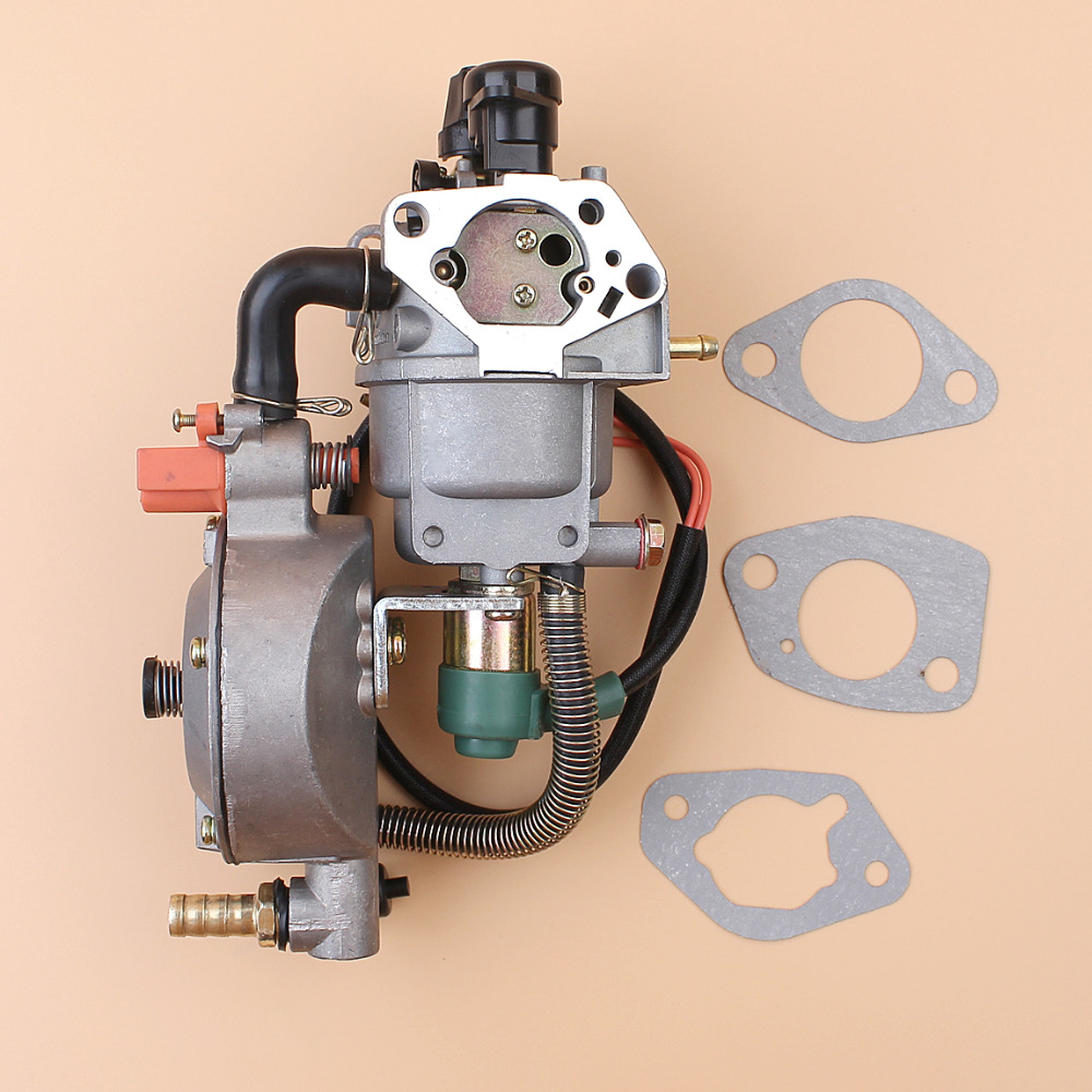 цена на Auto Choke Dual Fuel Carburetor Carb Gasket For Honda GX390 Chinese 188F 190F 4.5-5.5KW Motor Engine Generator LPG/CNG/Gasoline