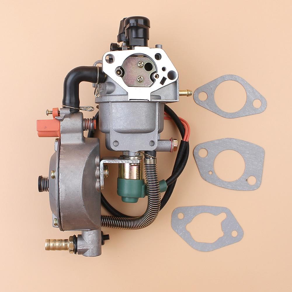 Auto Choke Dual Kraftstoff Vergaser Carb Dichtung Für Honda GX390 Chinesischen 188F 190F 4,5-5.5KW Motor Generator LPG/CNG/Benzin