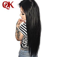 QueenKing hair 250% Density Lace Front human hair Wigs for Women Natural Color Silky Straight Brazilian Remy Hair