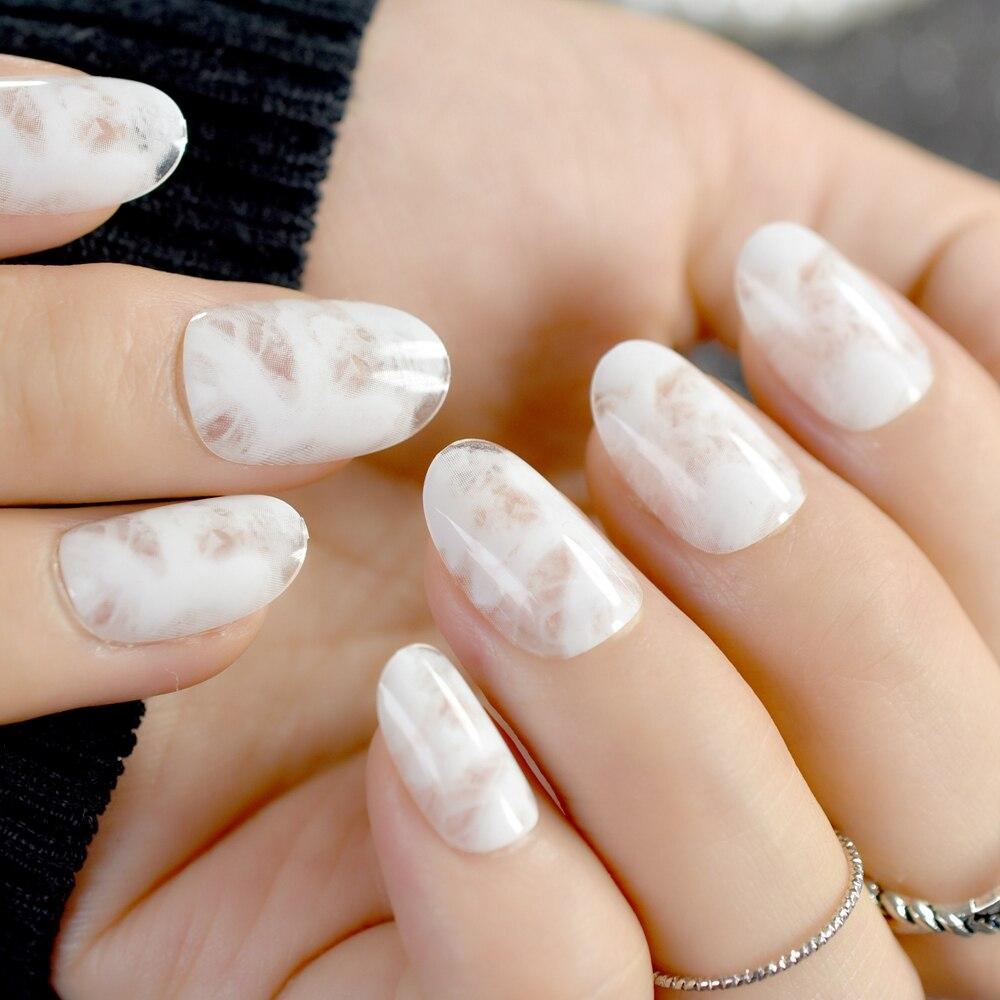 24 Stücke Gradienten Gefälschte Nägel Marmor Muster Acryl Falsche ...