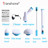 Transhome Multi function Electric Brushes Wireless Charging Electric Long Handle Cleaning Brush Household Cleaning Tools