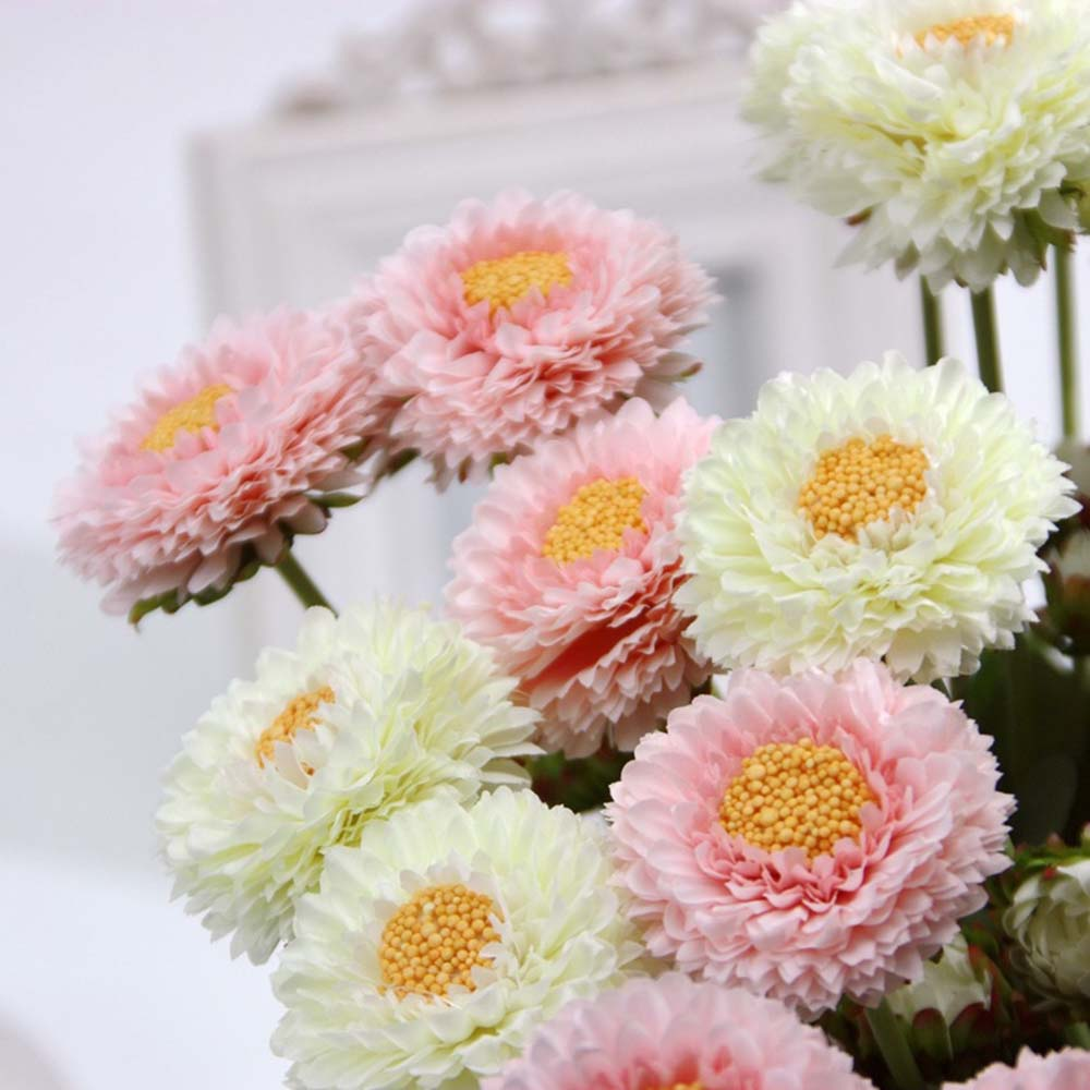 12pcs gerbera artificial flowers home party table wedding tale ...