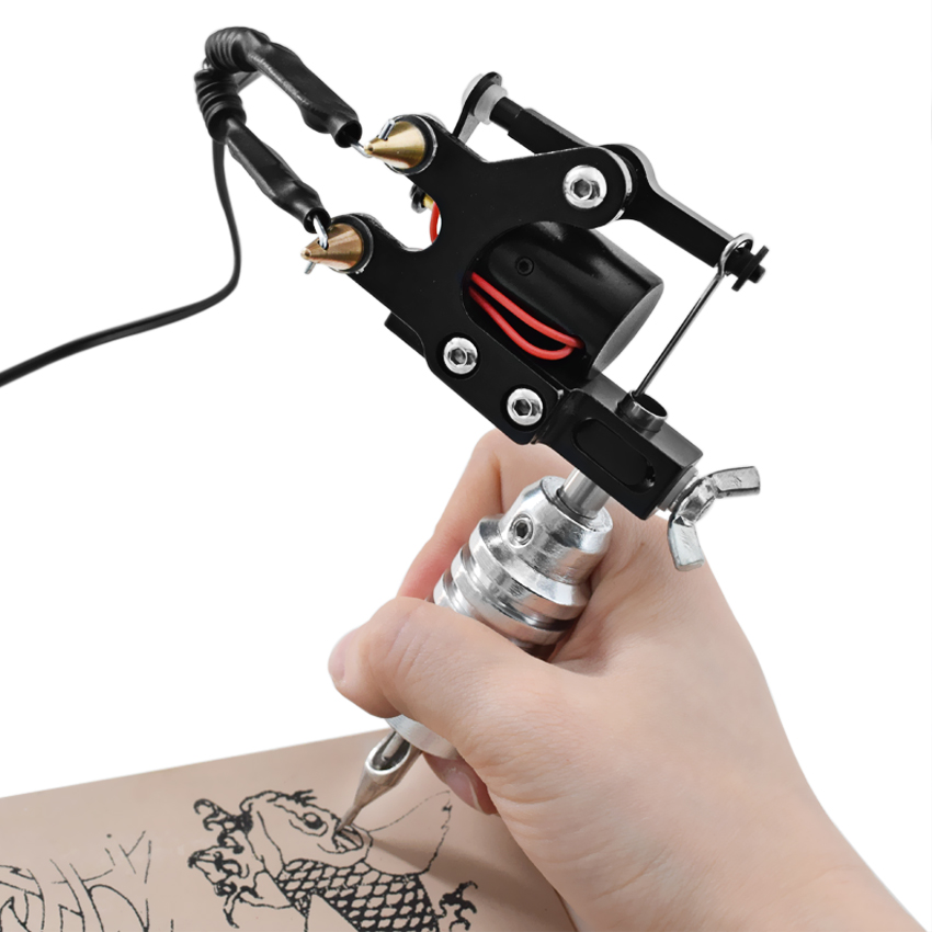 Rotary Tattoo Machine Rotary Gun Swiss Motor Shader Liner Body Art Permanent Makeup Tattoo Supply with Power Supply Footpedal in Tattoo Guns from Beauty Health