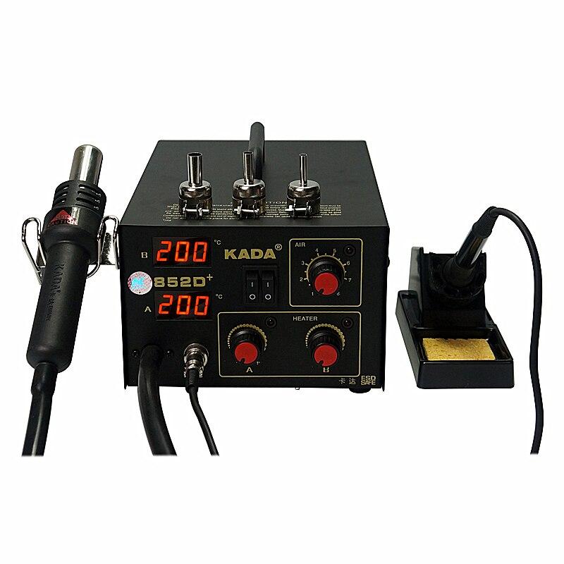 220V/110V KADA 852D+ SMD repairing system BGA soldering station Hot air gun & solder iron 2 in 1220V/110V KADA 852D+ SMD repairing system BGA soldering station Hot air gun & solder iron 2 in 1