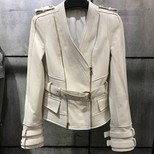 real leather jacket women genuine leather jacket