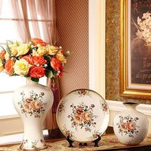 Fashion ceramic vase piece set decoration luxury vintage home crafts wedding gifts