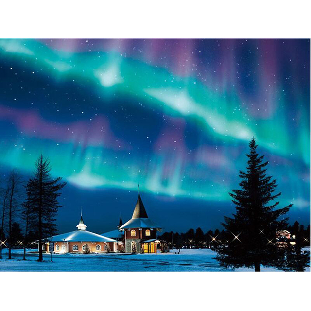 New Full Square/Round Drill 5D DIY Diamond Embroidery Northern Lights  Diamond Painting Cross Stitch