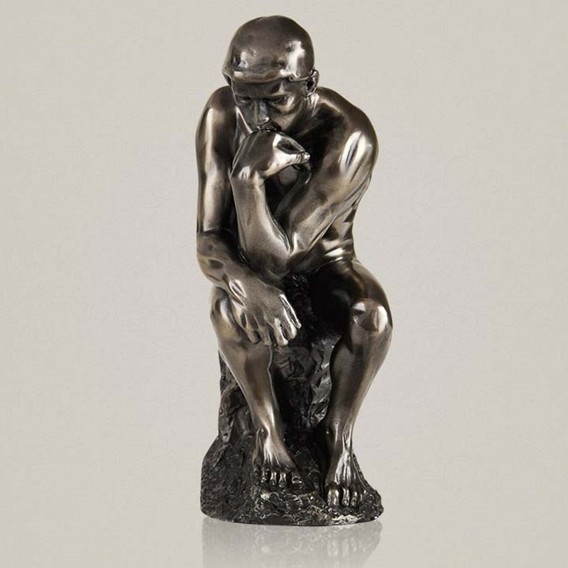 7Statue The Thinker Le Poete Bust Art Craft Full-Length Portrait Resin Action Figure Collectible Model Toy BOX D542 beethoven the piani ludwig van composer statue musician bust head portrait conductor resin action figure collectible model toy
