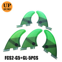 fcs2 g5/gl tri-quad 5 fins sets surfboard stand up fcs 2 water sports ii quilla surf paddle fin