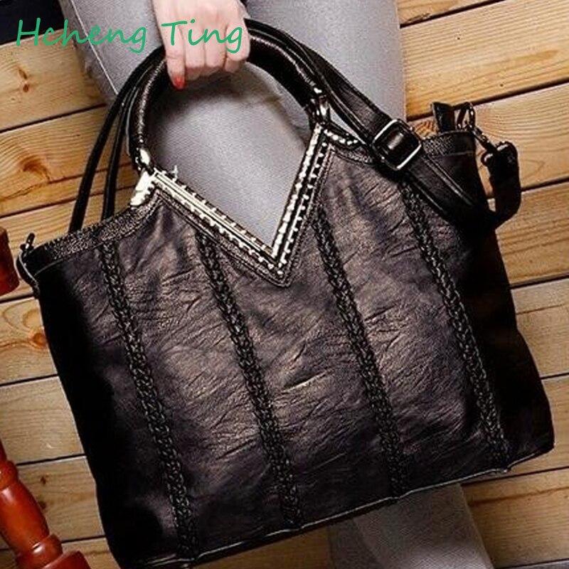 ФОТО Genuine Leather  Woman Handbags Bags For Women shoulder/crossbody Messenger Shopping Tote Bolsa Femininas