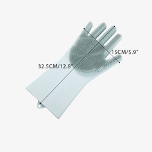 Creative Multipurpose Dish washing Gloves Silicone Household Gloves Thick Non-Slip Medical Gloves Home Kitchen Cleaning Tools