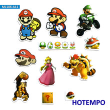 11pcs Super Hero Mario Creative Cartoon Game Stickers for Mobile Phone Laptop Luggage Guitar Case Skateboard Bike Decal Stickers(China)