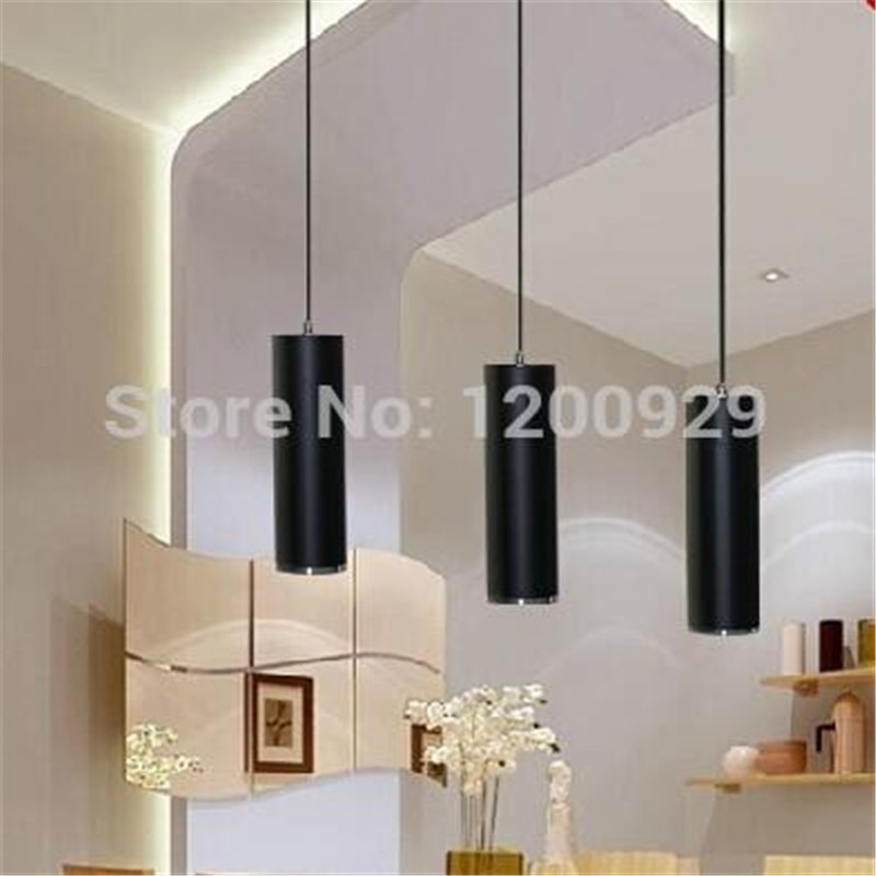 все цены на 28cm/48cm/68cm/1m Black Free Shipping Modern LED Creative Aluminum Long Column Pedant Light Home Decoration Lamp PLL-379