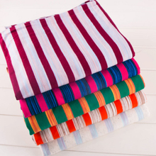 Cotton Stripes Breathable thin cotton knitted  fabric for DIY sewing T-shirts dress fabric by half meter