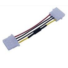 Nieuwe 4 Pin Molex Computer Pc Case Fan Snelheidsreductiemiddel Lage Ruis Verlengsnoer Adapter Adapter