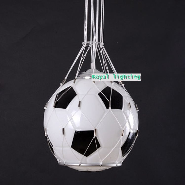 soccer ball children room glass light pendnat lamps