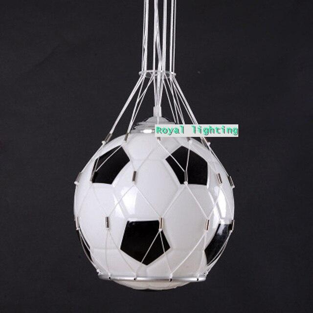 Soccer Ball Lamp Australia: Soccer Ball Children Room Glass Light Pendnat Lamps