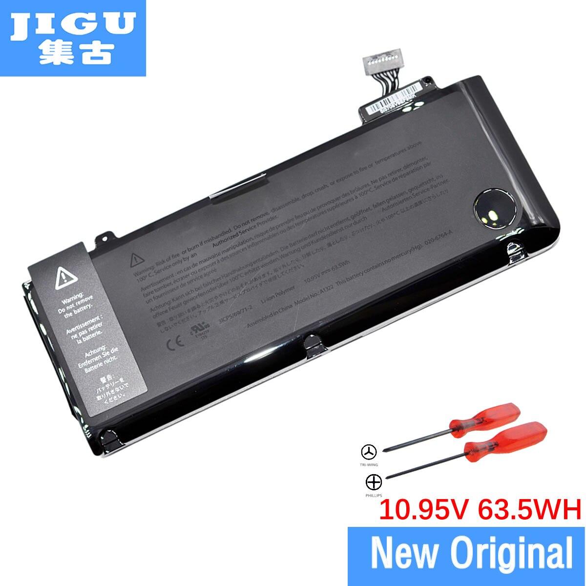 JIGU New Genuine Original A1322 Battery For Apple for Macbook Pro 13 Unibody A1278 2009 2010 2011 2012 Version 10.95V 63Wh