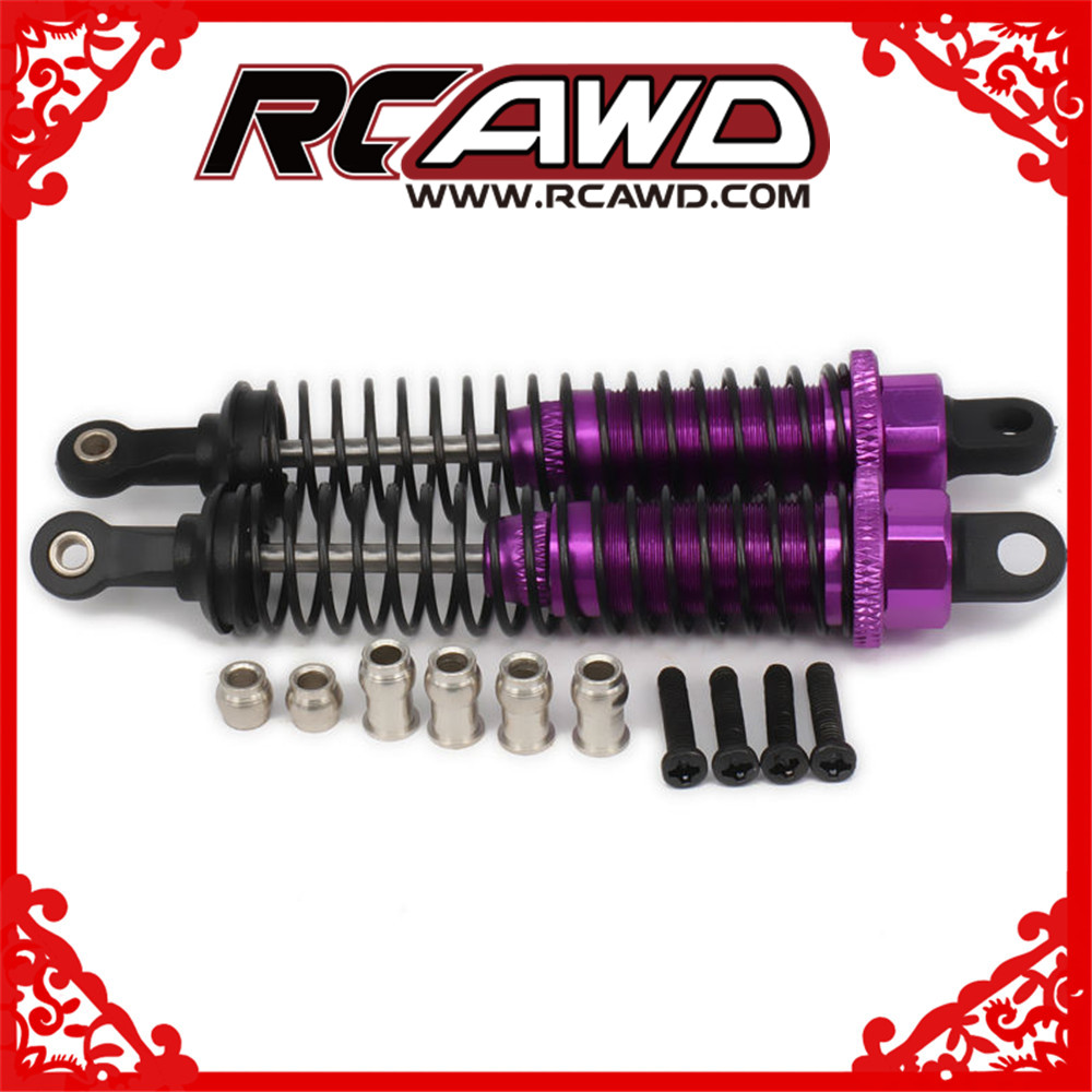 Huile Réglable 86mm Alliage En Aluminium Amortisseur Amortisseur Pour Rc Voiture 1/16 Buggy Camion Hpi Hsp Traxxas Losi Axial tamiya Redcat
