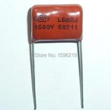 50pcs CBB capacitor 682 1600V 682J 1.6KV 6800pF 6.8nF P15 CBB81 Metallized Polypropylene Film Capacitor