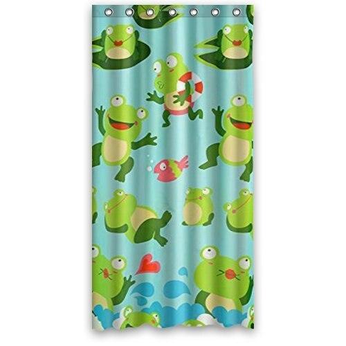 WAEM TOUR Custom Frog Fashion Shower Curtain Polyester Curtain  Hotel/Bathroom With Hooks Ring180X180cm(