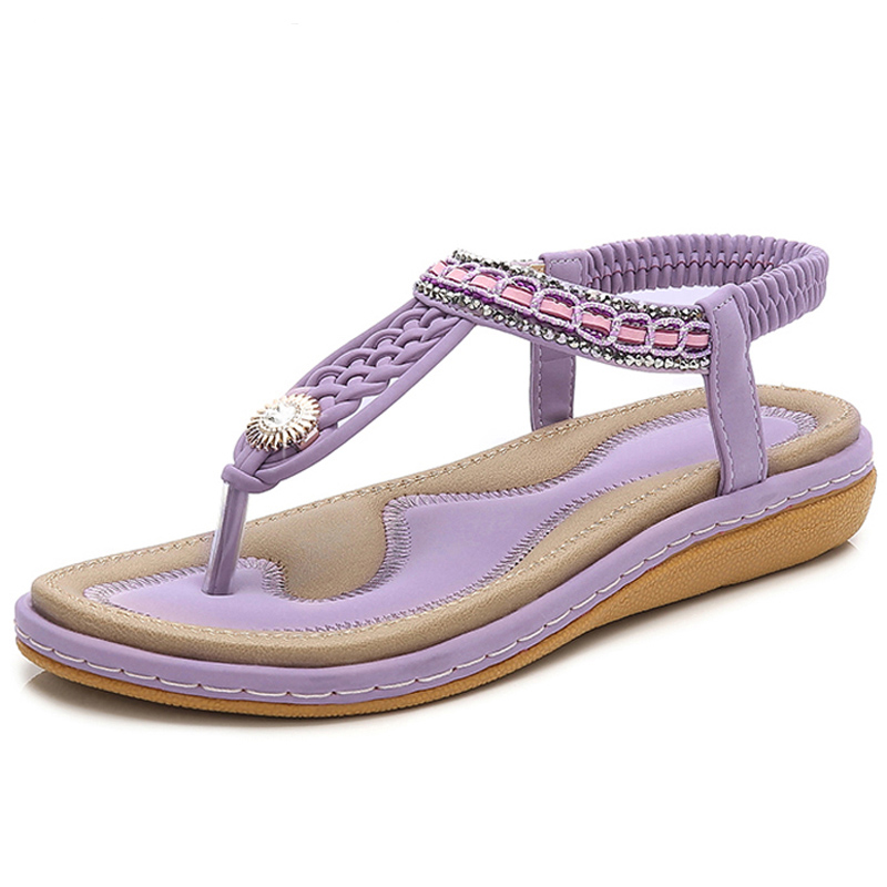 HEE-GRAND-Elastic-Band-Women-Sandals-Straw-String-Beading-Platform-Flats-Sandals-Hot-Beach-Shoes-Woman