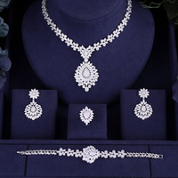 Hotsale African 4pc Bridal Jewelry Sets New Fashion Dubai Necklace Sets For Women Wedding Party Accessories Design