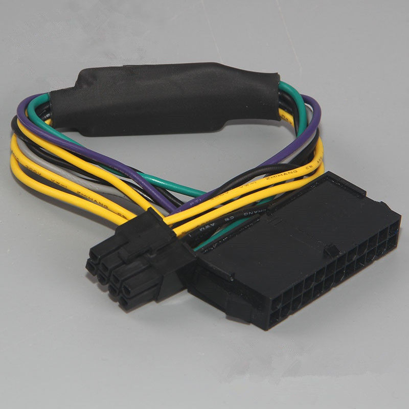 Audio And Video Power <font><b>Cables</b></font> <font><b>ATX</b></font> <font><b>24pin</b></font> to 8pin Power Supply <font><b>Cable</b></font> For DELL Optiplex 3020 /7020 /9020 /T1700 Adapter <font><b>Cable</b></font> image