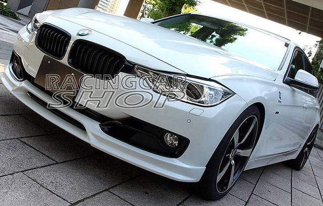 Unpainted 3d Style Front Bumper Lip Spoiler For Bmw F30 3 Series
