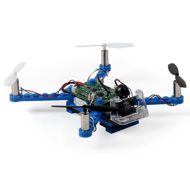 BLLRC 6軸ジャイロミニdiyビルディングブロックquadcopterブルー/ホワイト rc x