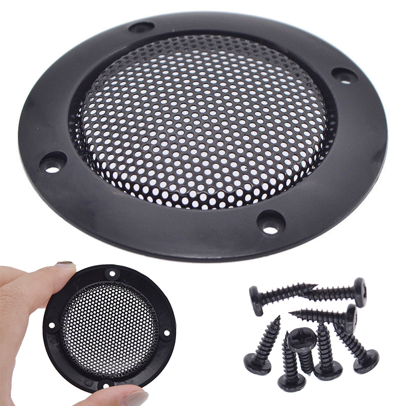 New 1Pair 3 Inch Speaker Grille Cover Loudspeaker Protective Mesh Cover Decoration Circle Speaker Accessories