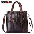 OGRAFF Genuine leather men bag designer handbags high quality men briefcase business with handles skin shoulder bag vintage