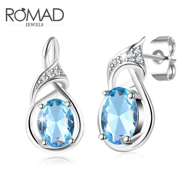 Light Blue Crystal Drop Earrings Creative Women Models Earring Birthday Present Wedding Hot Fashion