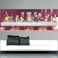 WANGART Rick and Morty Vindicators Cartoon Home Decor Canvas Painting Poster Print Wall Picture for Living Room Large Wall Art