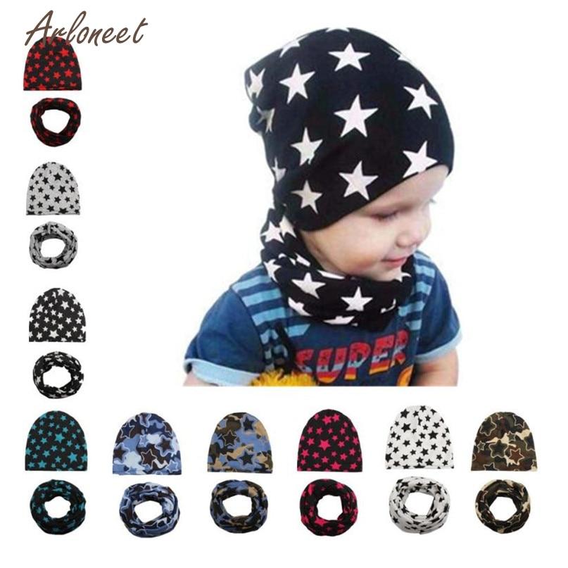 TELOTUNY 9 Colors Cute Fashion Hat New Winter Baby Hat Girl Boy Cap Children Hats Kids Hat Scarf Hot 2017 Drop Shipped ST25