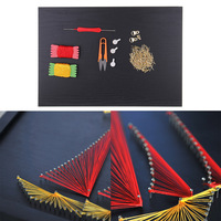 Sailboat String Art Kit Stereoscopic Decorative Painting with Materials for Kids Adults Craft