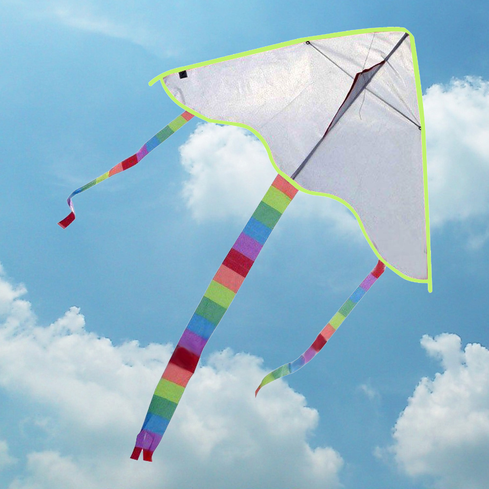 Chinese DIY Painting Kite Flying Toys for Children Outdoor Activities Toy Colorful Kite Without Line Spring New Year's Gift