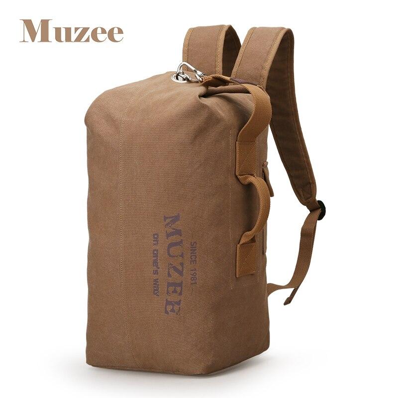 Muzee 2019 grande capacité homme sac de voyage toile seau sac à dos sac bagage sac à bandoulière ordinateur sac à dos sacs polyvalents